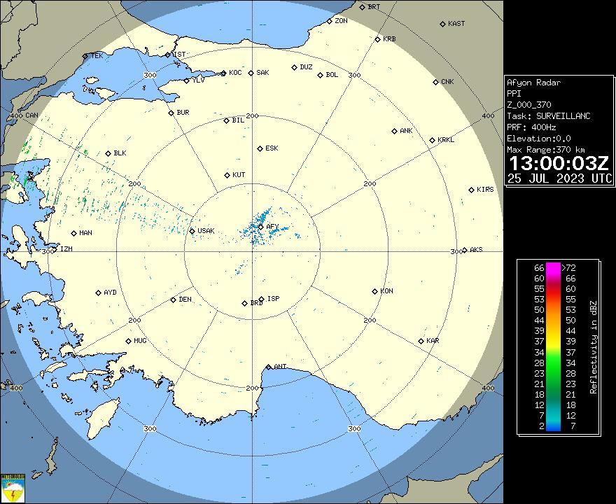 Radar Görüntüsü: Afyonkarahisar, PPI