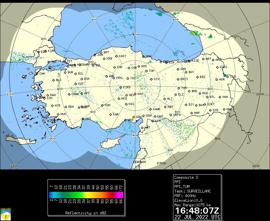 Radar Turchia OFF-LINE