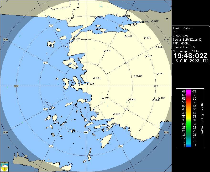 Radar Görüntüsü: İzmir, PPI
