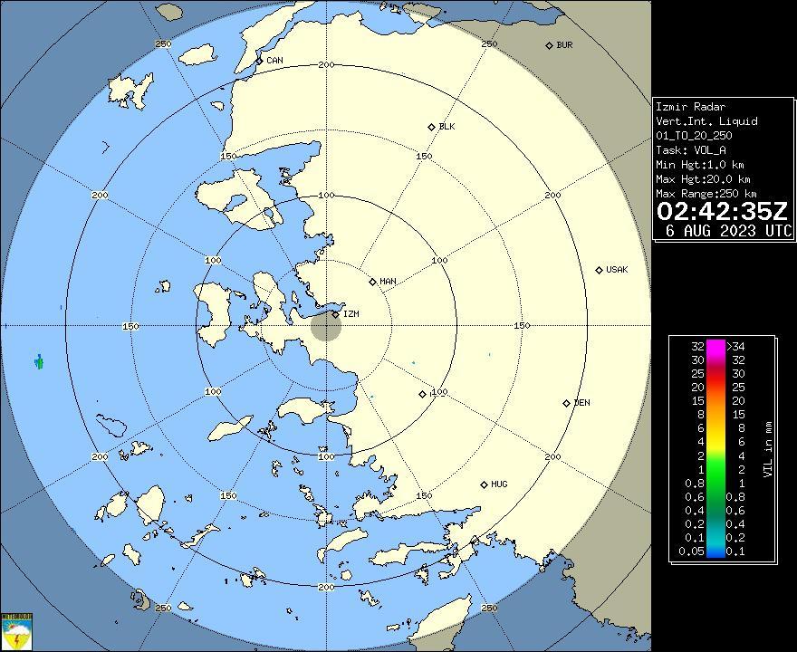 Radar Görüntüsü: İzmir, VIL