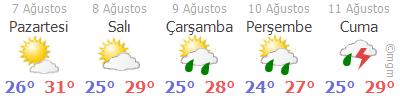 Trabzon Hava Durumu Tahmini 5 Günlük